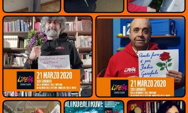 21 Marzo 2020, Venticinquesima Giornata della Memoria e dell'Impegno in ricordo delle Vittime Innocenti delle Mafie.